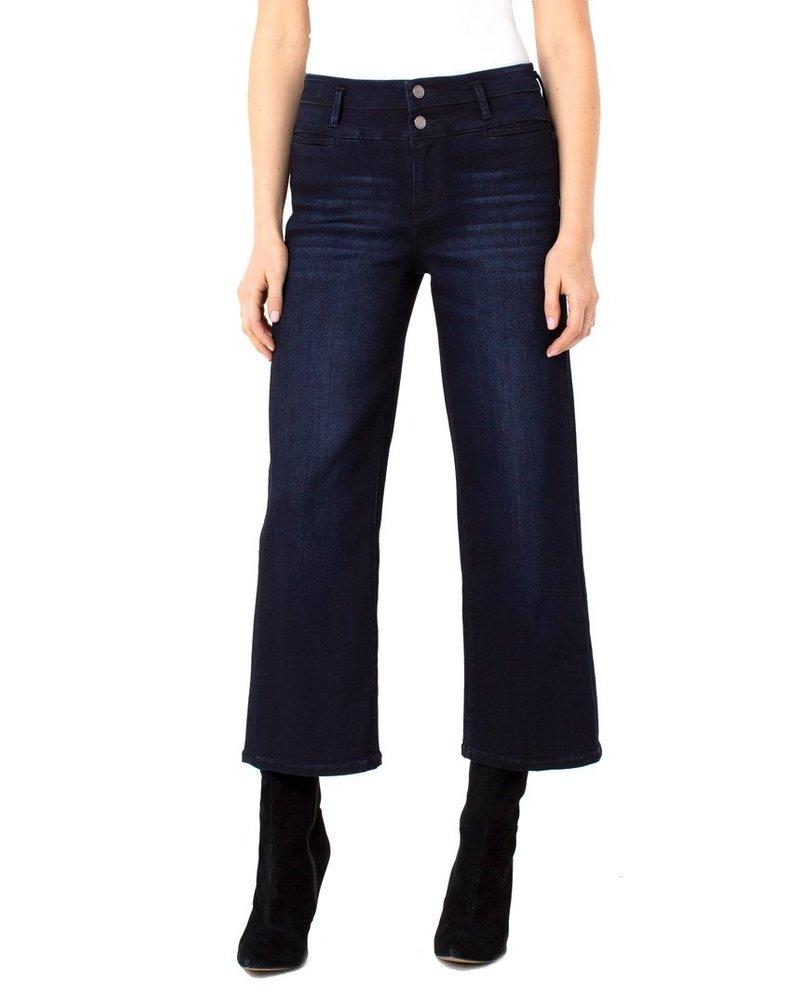 Liverpool Stone Wash Hi-Rise Regan Wide Leg With Trouser Pockets
