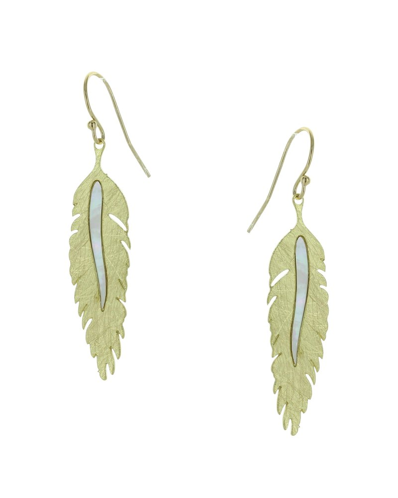 Takobia Gold Mother Of Pearl Feather