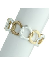 Takobia Two Tone Open Circles Stretch Bracelet
