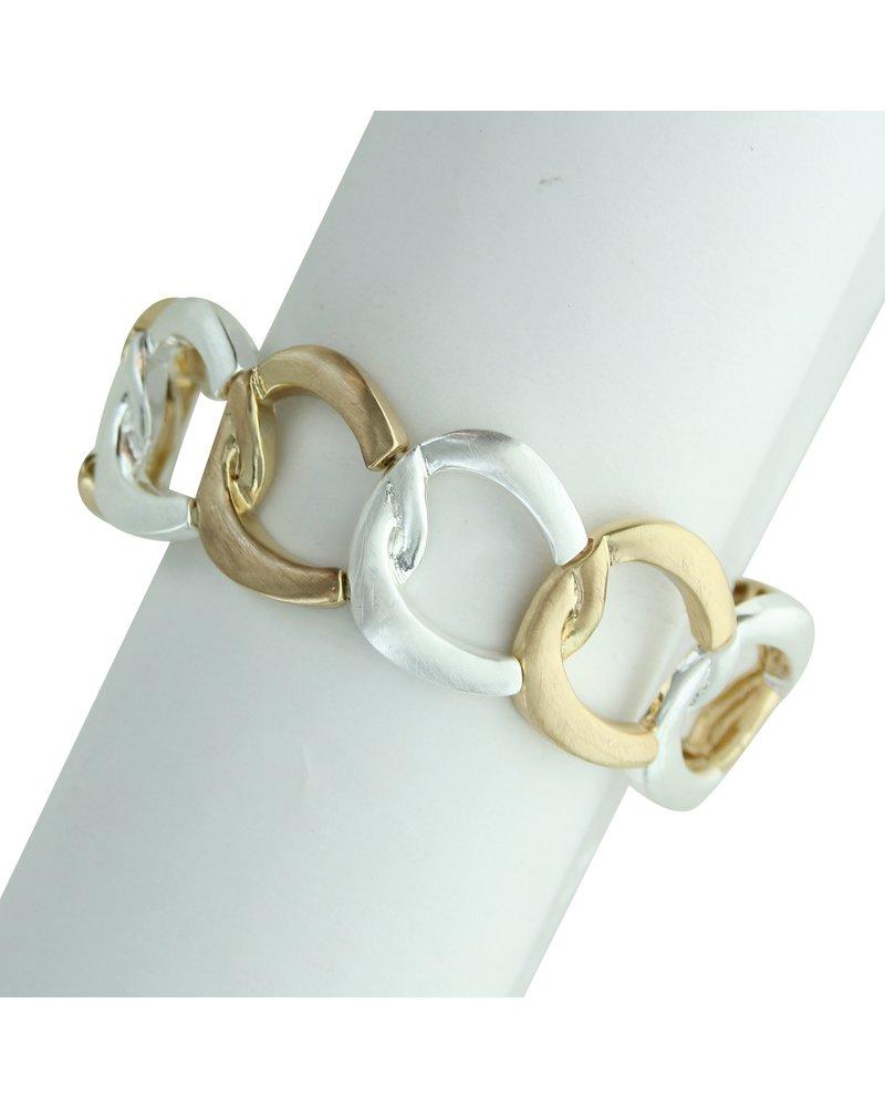 Takobia Two Tone Open Circles Stretch Bracelet