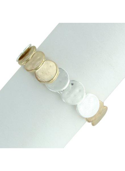 Takobia Two Tone Circles Stretch Bracelet