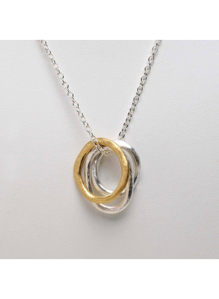 Takobia Two Tone Hoop Necklace