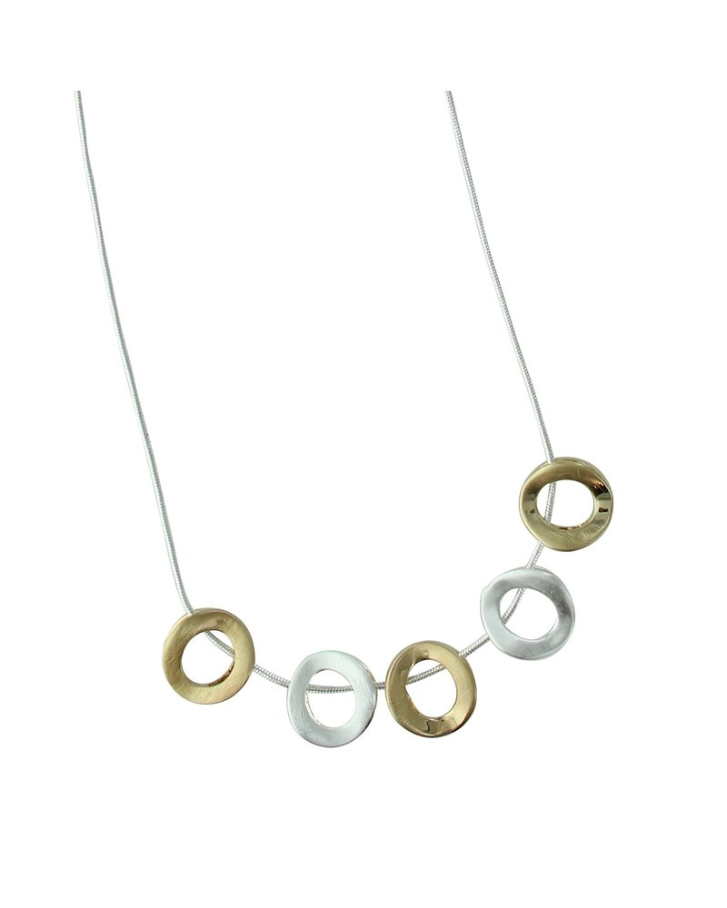 Takobia Two Tone Circles Necklace