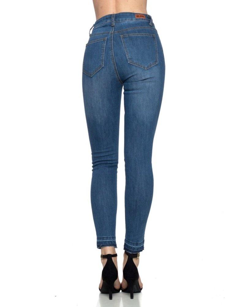 G-Gossip Apparel Indigo Wash Cropped Jeans