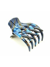 Medusa's Heirlooms Blue Marble Large French Yoga Claw