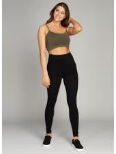 C'est Moi Clothing Black Bamboo Fleece Lined Leggings