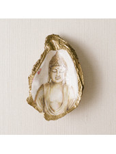 Grit & Grace Studio Serenity Buddha Decoupage Oyster Ring Dish