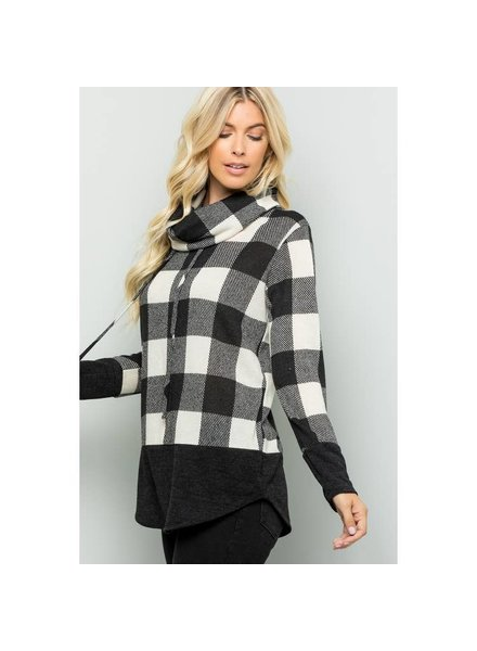 Sweet Lovely by Jen Ivory & Black Plaid Pullover