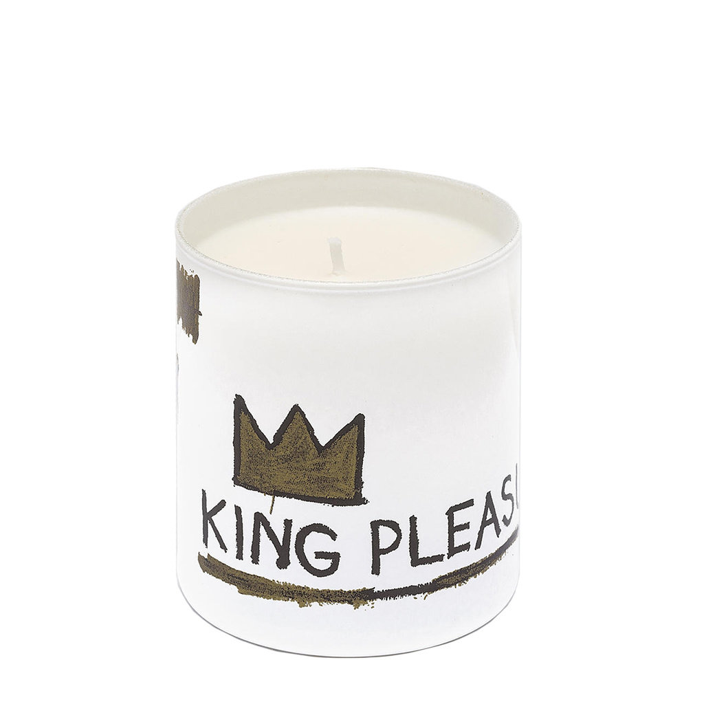Jean-Michel Basquiat White King Pleasure Candle | Jean-Michel Basquiat