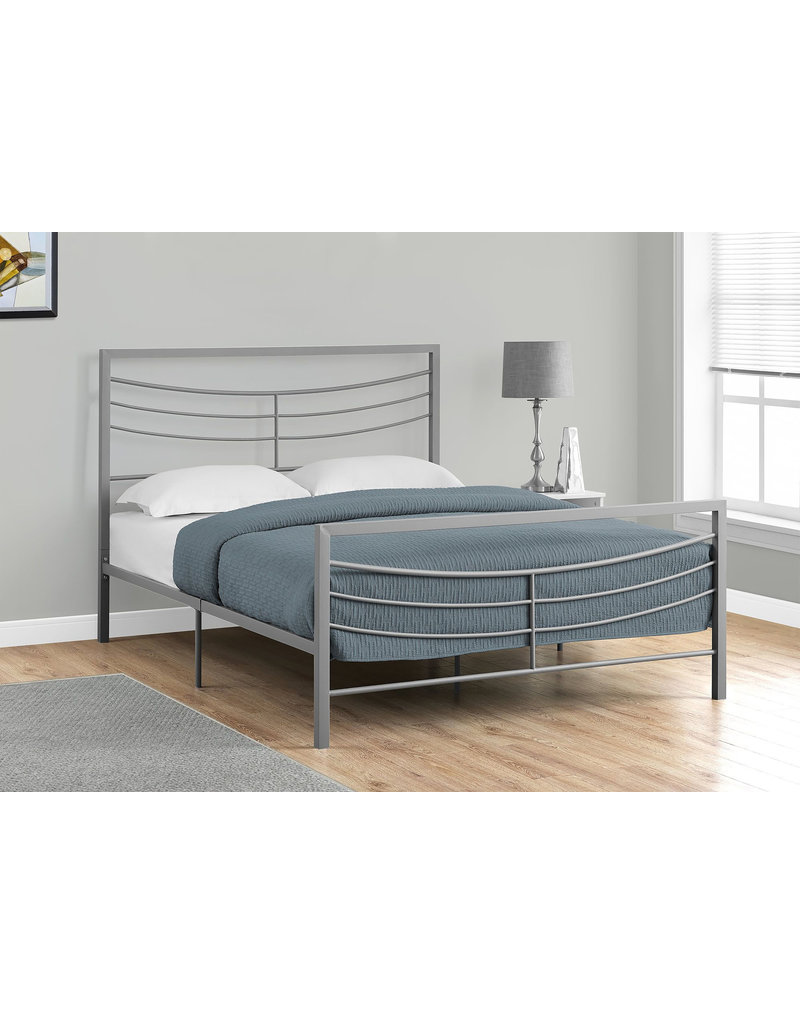 Queen Silver Metal Bed Frame Maison Caplan