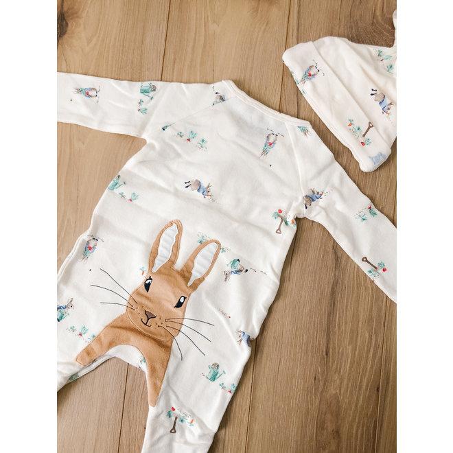 Peter Rabbit Sleeper/Hat Set