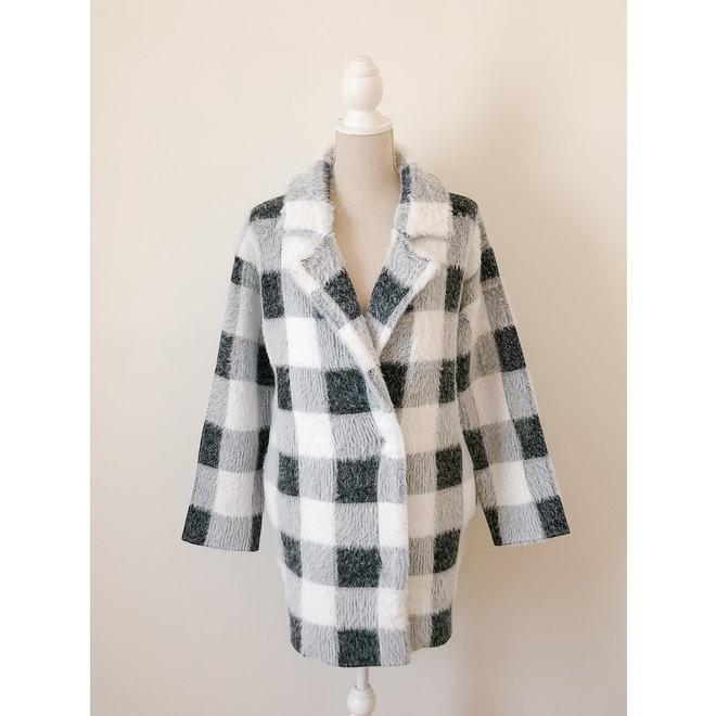 Jane Plaid Sweater Coat
