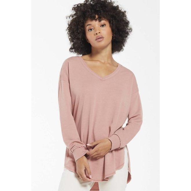 V-Neck Weekender | Pink & Washed Black