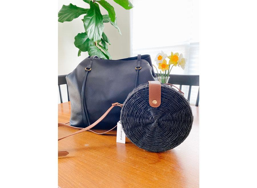 Alexi Round Straw Bag