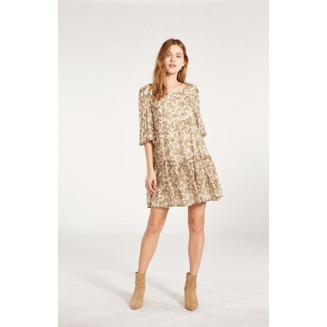 Alabaster Scroll Up Dress