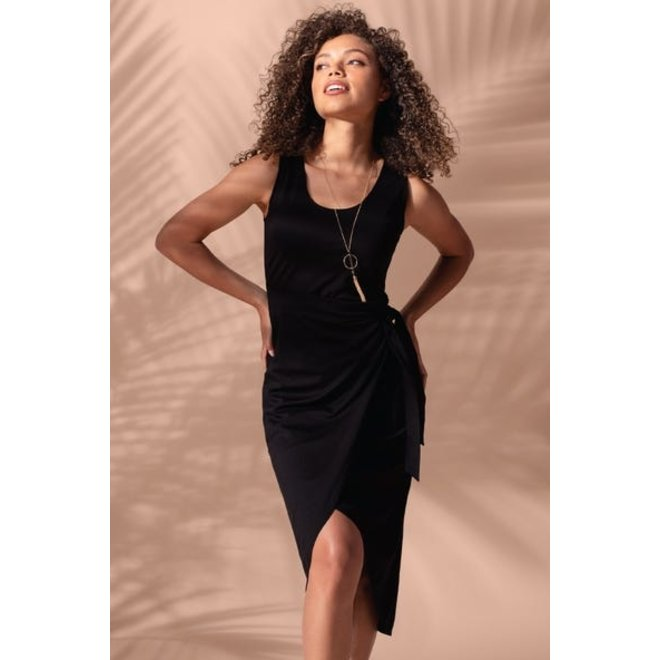 Elizabeth Faux Wrap Dress