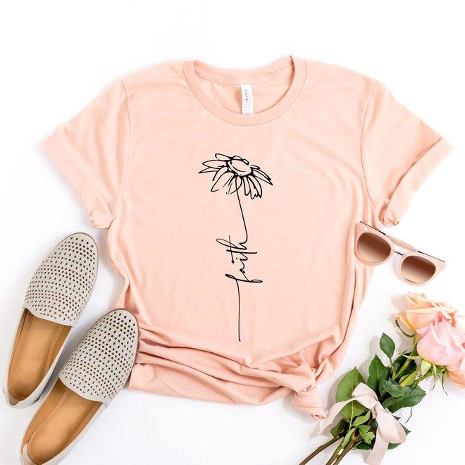 Faith Flower Graphic Tee