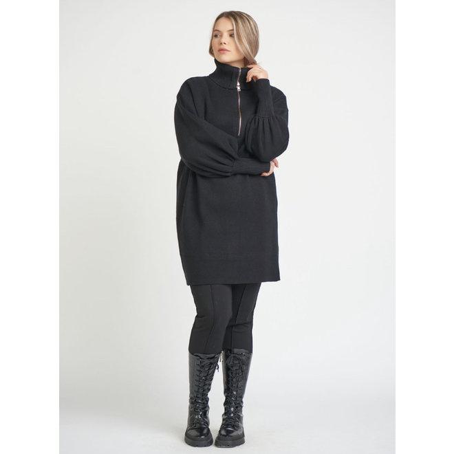 Veronica Dex Plus Front Zip T/Neck