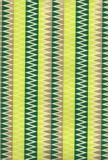 """Zig Zag Mountains, Evergreen, Gold on Lime Green, 22"""" x 30"""""""
