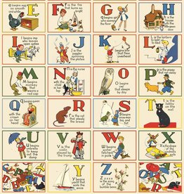 "Italy Cavallini Print, ABC Vintage, 20"" x 28"""