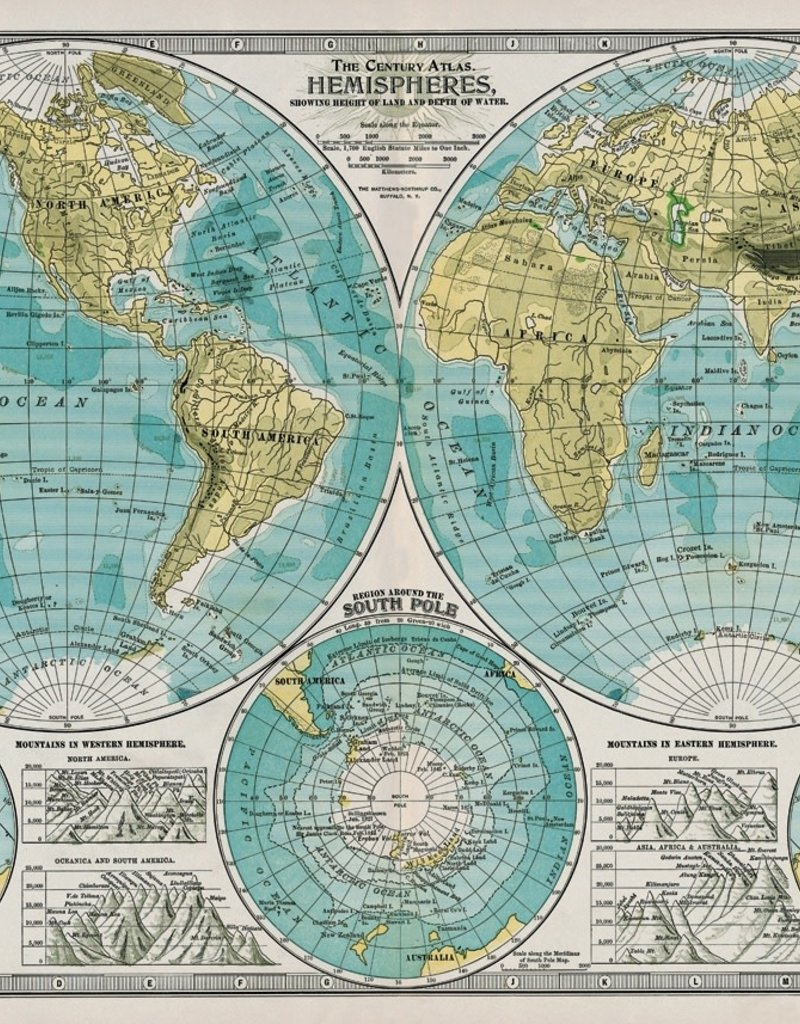photograph relating to Printable Maps of Italy called Italy Cavallini Print, Hemisphere Map, 20\