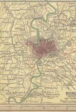 "Cavallini Italy Map, Cavallini Poster Print, 20"" x 28"""