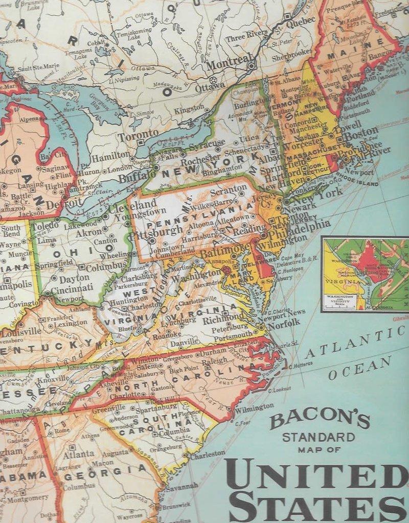 "Cavallini United States Map, Poster Print, 20"" x 28"""
