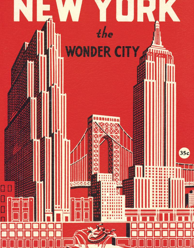 "Cavallini New York the Wonder City, Poster Print, 20"" x 28"""