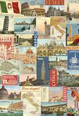 "Cavallini Italy Post Card, Cavallini Poster Print, 20"" x 28"""