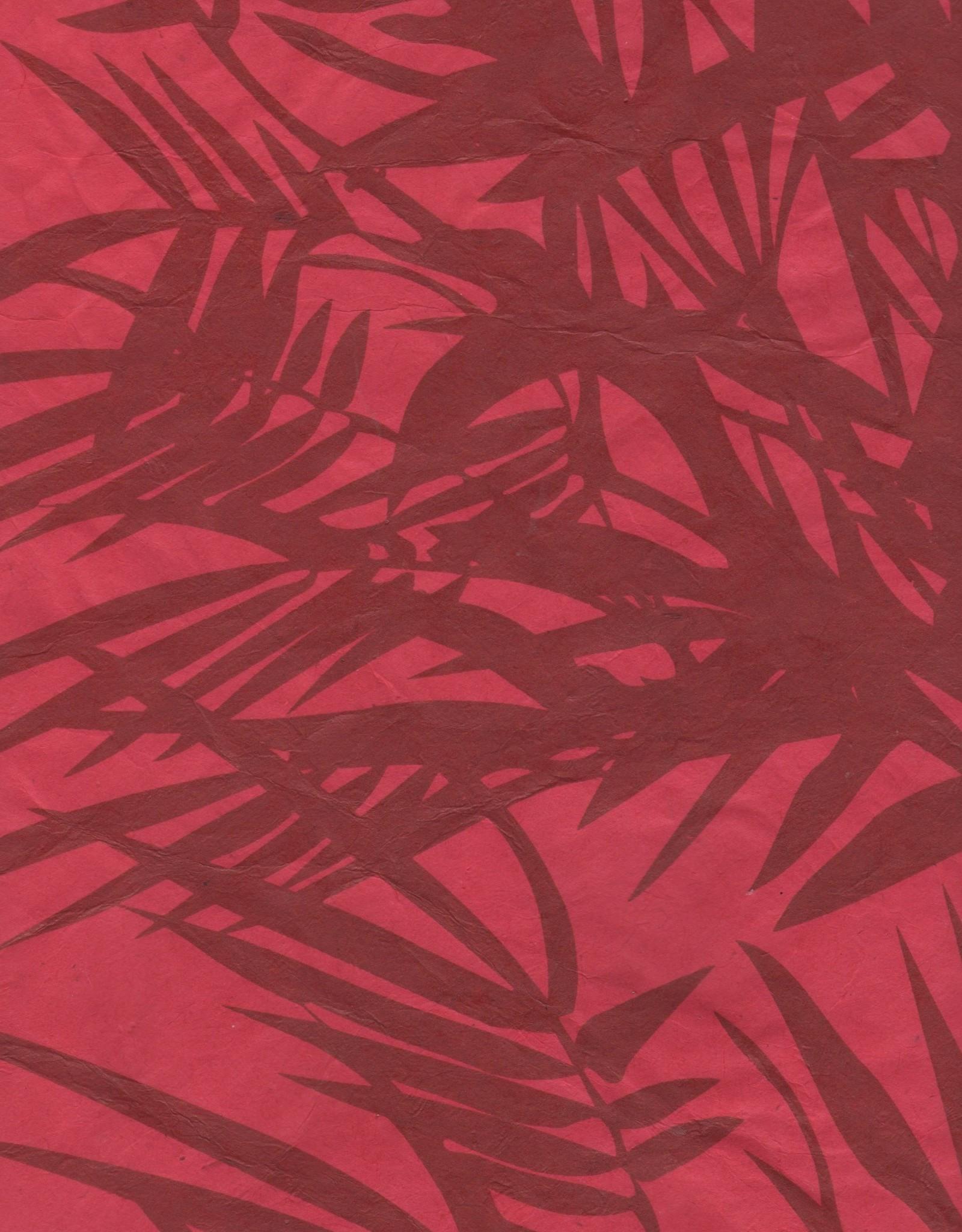 "Lokta Bamboo Red, 20"" x 30""30"""