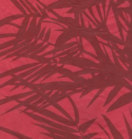 "Lokta Bamboo Red, 20"" x 30"""