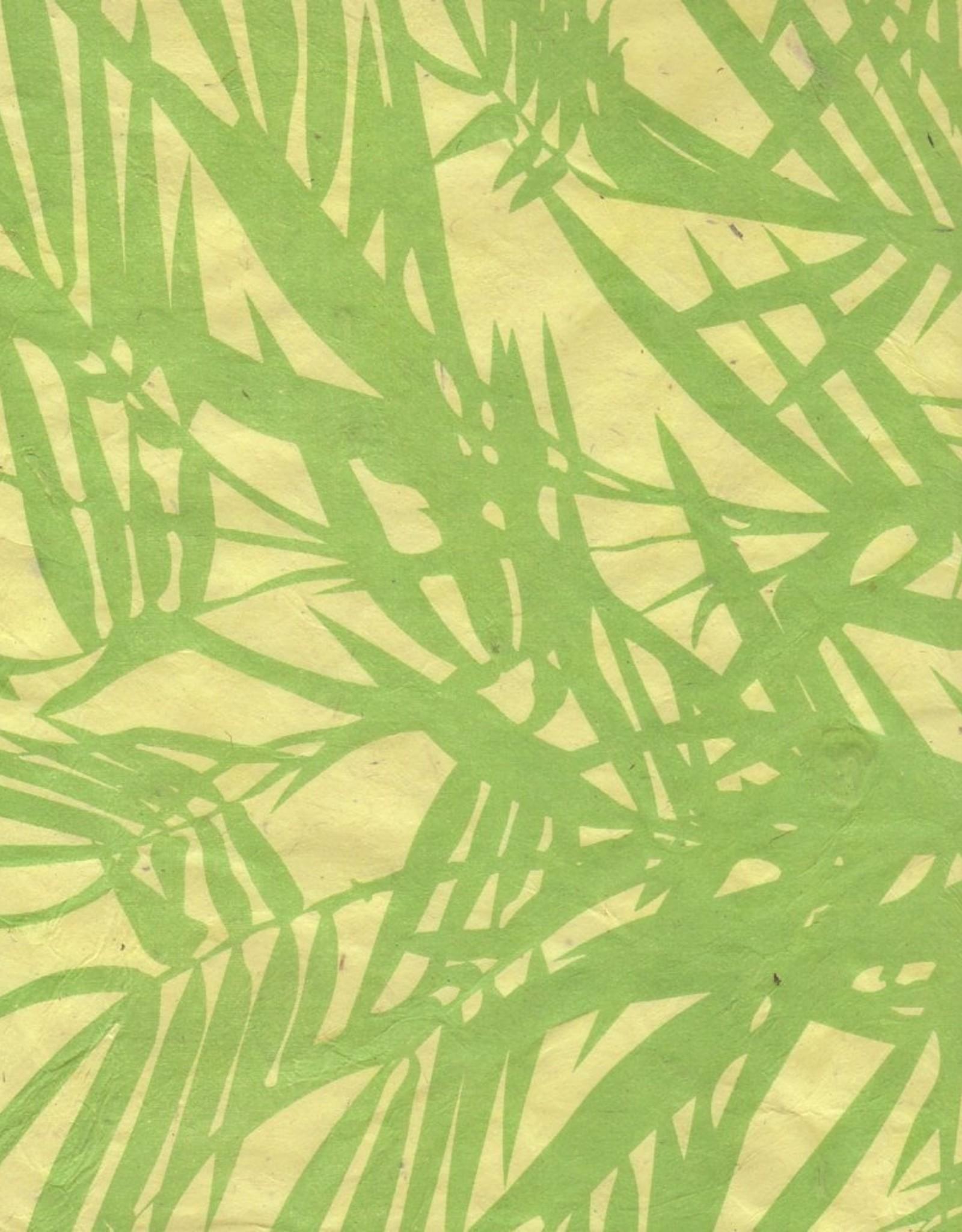 "Lokta Bamboo Yellow, 20"" x 30"""
