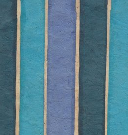 "Lokta Batik Stripes, 20"" x 30"""