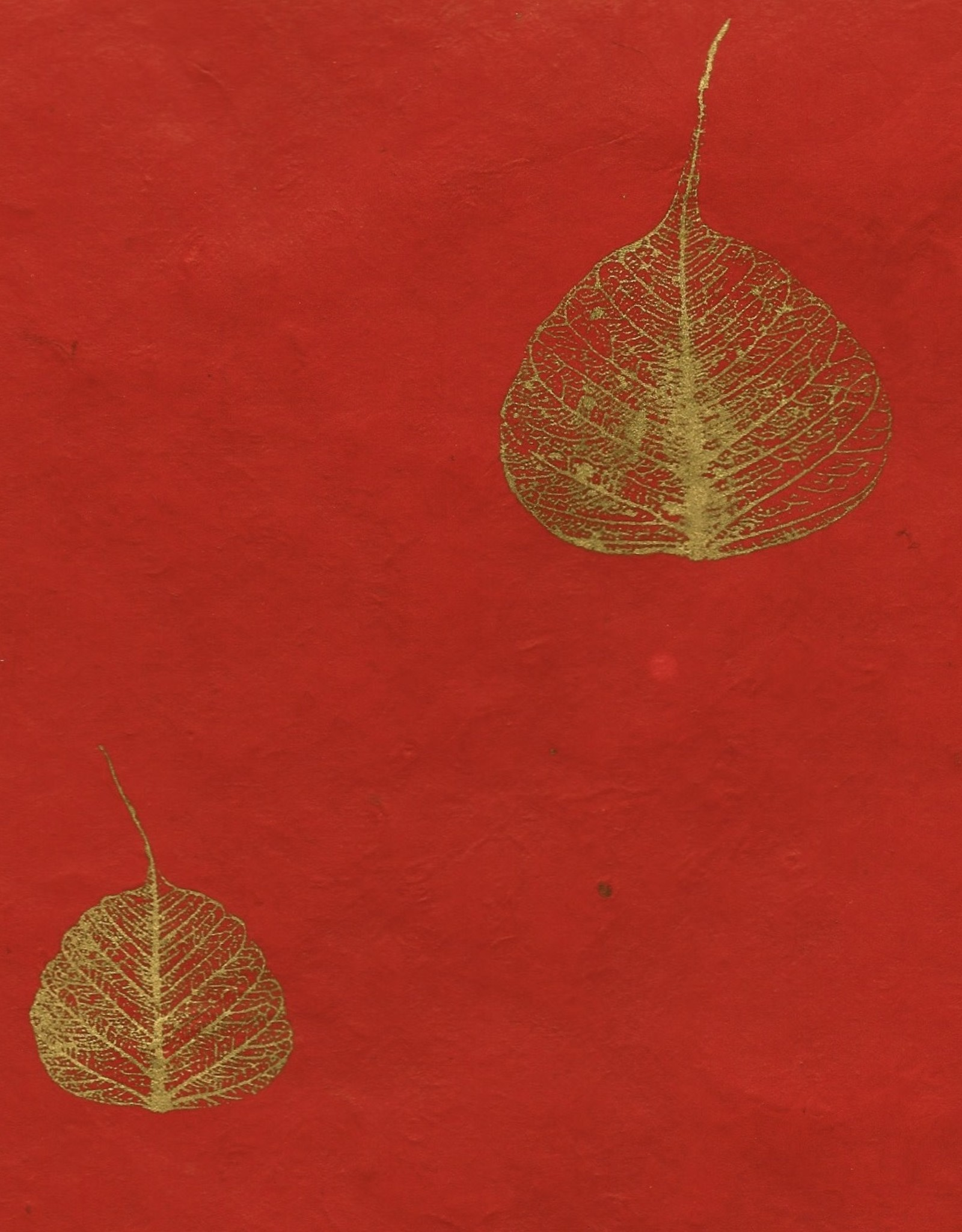 "Lokta Bodhi Leaves Red, 20"" x 30"""