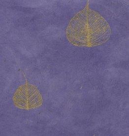 """Lokta Bodhi Leaves Purple, 20"""" x 30"""""""