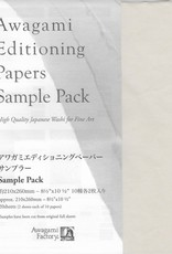 "Awagami Awagami Select, Sampler Pack, 8.5"" x 11"", 20 sheets"