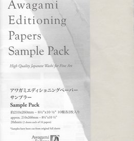 "Japan Awagami Select, Sampler Pack, 8.5"" x 11"", 20 sheets"