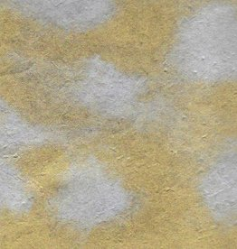 "Lokta Dappled Metallic Silver Spots on Gold, 20"" x 30"""