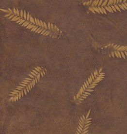 "Lokta Fern on Gold Brown, 20"" x 30"""