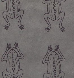 "Lokta Frogs on Grey, 20"" x 30"""