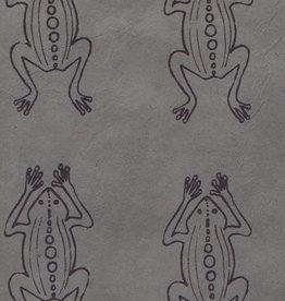 "Lokta Frogs on Grey, 20"" x 30"""