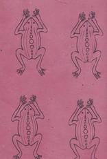 "Lokta Frogs on Rose, 20"" x 30"""