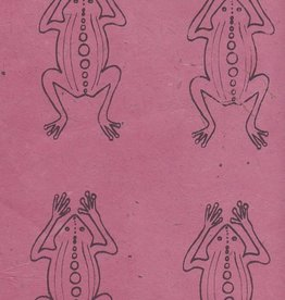 "Lokta Frogs on Rose, 20"" x 30"""