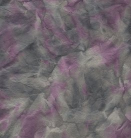 "Lokta Himalayas, Glacier, Gray w/ Purple, 19"" x 29"" 60gsm"