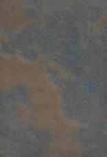 """Lokta Pinto Blue with Walnut, 20"""" x 30"""""""