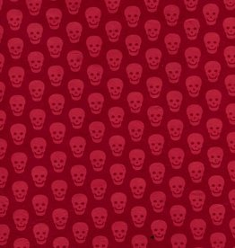 "Lokta Skulls, Red on Red, 20"" x 30"""