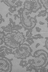"Nepal Lokta Vintage Lace, Grey, 19"" x 29"" 60gsm"
