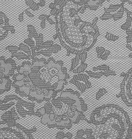 "Lokta Vintage Lace, Grey, 19"" x 29"" 60gsm"