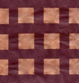 "Lokta Squares, Copper on Chocolate, 20"" x 30"""