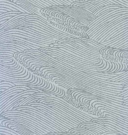 "Japanese Rayon Lace, Sea, 21"" x 31"""